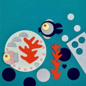 Mylani Mini-Bastelset Korallenriff Bastelergebnis