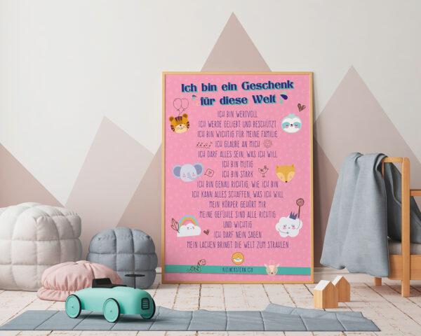 Poster Affirmationen SWEET rosa